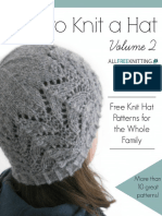 How to Knit a Hat Volume 2 Free Knit Hat Patterns for the Whole Family