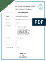 Trabajo Monográfico de Metabolismo de Glucolipidos