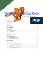 Writing Fast Matlab Code - 2008