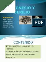 MAGNESIO Y BERILIO