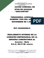 Reglamento Interno Comisión - Modificado