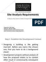 Site Analysis Requirements