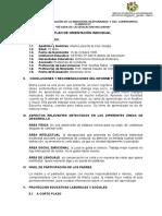 informe orientación individual