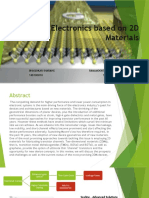 Electronics Based on 2D Materials