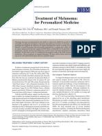 Tailoring the Treatment of Melanoma