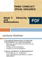 Ethnic Conflıct and Political Violencetion