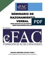 SEMINARIO DE RAZONAMIENTO VERBAL - cFAC - FORMACIÓN DE ALTAS CAPACIDADES