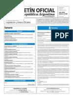 Boletín Oficial de la República Argentina, Número 33.439. 12 de agosto de 2016