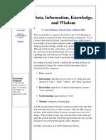 AckoffDiscussion Data Information Knowledge Wisdow