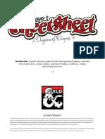 D&D Player Cheat Sheet DMG