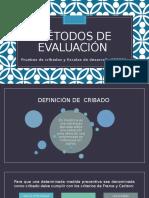 Métodos de Evaluación