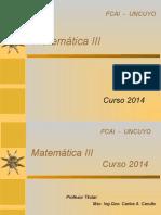 1 Matemática III Presentación 2014 25mar14