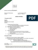 Agenda Sistémica 2016-2017