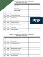 Cuaderno Electoral CC Herederos de Zamora