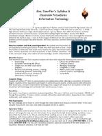 falls lake academy - info tech - syllabus 2016