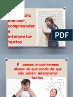 Ppt Interpretação de Texto