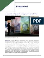 La Economia de Venezuela Se Apaga Por Leonardo Vera