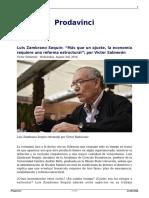 Luis Zambrano Sequin Mas Que Un Ajuste La Economia Requiere Una Reforma Estructural Por Victor Salmeron