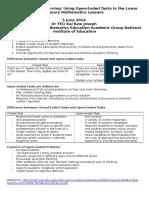 assessment for learning dr yeo