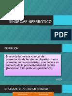 Sindrome Nefrrotico y Nefritico