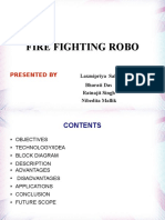 Minor Project PPTrfcontrolledfirefightingrobot