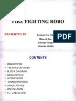 Minor Project PPTrfcontrolledfirefightingrobot