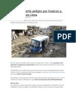 Indeci Advierte Peligro Por Huaicos y Desbordes en Lima