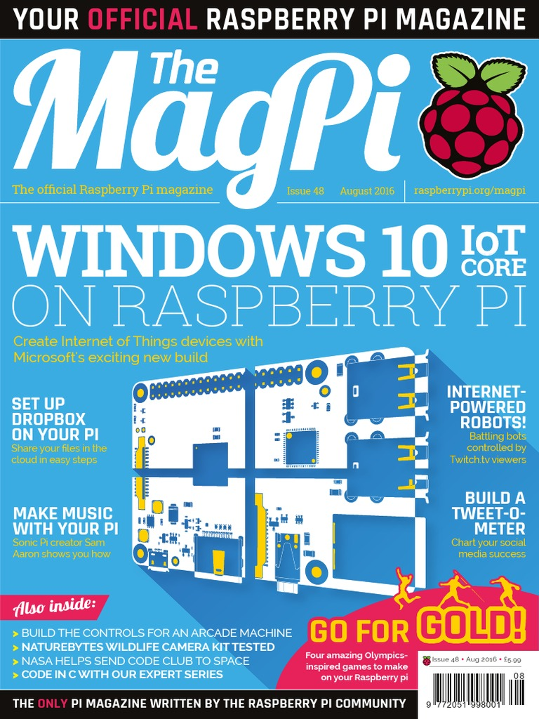 Magpi Raspberry Pi Windows 10 Internet Of Things Wiringpi Mcp3008 C