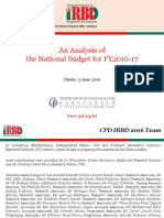 Analysis of the National Budget FY 2016 17 Powerpoint
