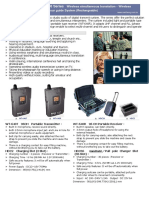 WT-640 Series Wireless simultaneous translation