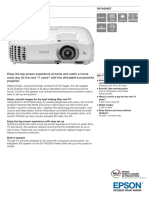 Epson EH-TW5300 3LCD Full HD 3D Gaming / Home Theatre Projector Datasheet