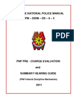 PNP Pre-Charge Evaluation and Summary Hearing Guide Copy