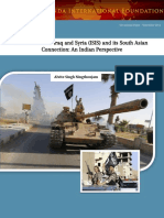 Islamic State of Iraq and Syria Isis and Its South Asian Connection an Indian Perspective