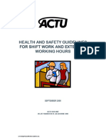 ACTU Shift Work Guidelines