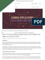 How to Serve Django Applications With UWSGI and Nginx on Ubuntu 14