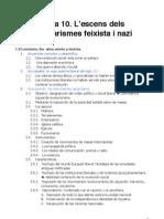 Tema 10 L'Ascens Dels Totalitarismes Faixista i Nazi