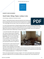South Sudan_ Killings, Rapes, Looting in Juba