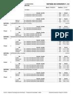 Modelo de horario de clases -  universitario