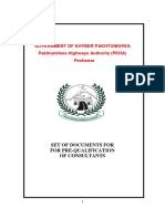 Set of Documents for Pre-Qualification of Consultants