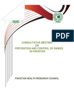 Consultative meeting by Pakistan Ministry of Health on rabies control