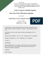 United States v. Dean Alan West, 16 F.3d 413, 4th Cir. (1994)