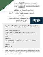 Fatmata Fofana v. Giant Food, Inc., 37 F.3d 1493, 4th Cir. (1994)