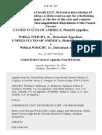 United States v. William Wright, Jr., United States of America v. William Wright, Jr., 42 F.3d 1387, 4th Cir. (1994)