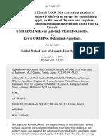 United States v. Kevin Cobbins, 46 F.3d 1127, 4th Cir. (1995)