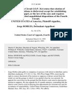 United States v. Jorge Robles, 51 F.3d 269, 4th Cir. (1995)