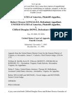 United States v. Robert Orozco Gonzalez, United States of America v. Clifford Douglas Dowe, 72 F.3d 128, 4th Cir. (1995)