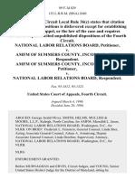 National Labor Relations Board v. Amfm of Summers County, Incorporated, Amfm of Summers County, Incorporated v. National Labor Relations Board, 89 F.3d 829, 4th Cir. (1996)