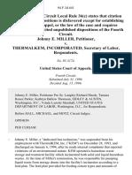 Johnny E. Miller v. Thermalkem, Incorporated Secretary of Labor, 94 F.3d 641, 4th Cir. (1996)