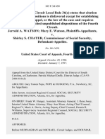 Jerrold A. Watson Mary E. Watson v. Shirley S. Chater, Commissioner of Social Security, 105 F.3d 650, 4th Cir. (1997)