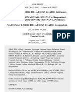 National Labor Relations Board v. Grand Canyon Mining Company, Grand Canyon Mining Company v. National Labor Relations Board, 116 F.3d 1039, 4th Cir. (1997)